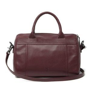 NEW Frye Lena Zip Leather Satchel